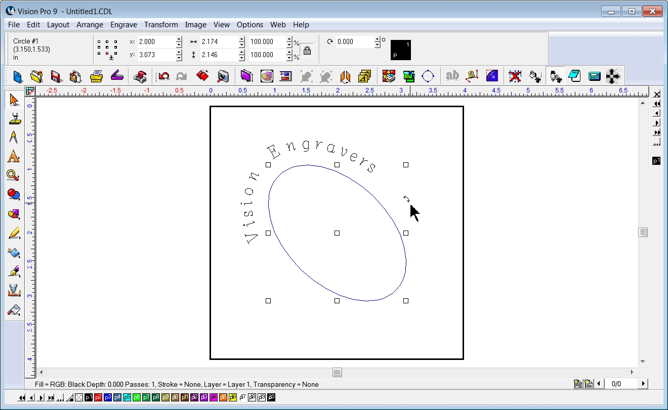 Engraving machine and cnc routing blog placing text on a for Cnc lettering software