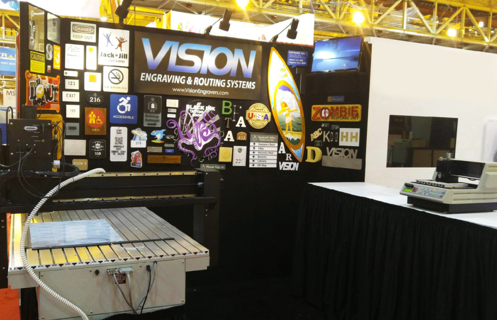 Vision Engraving & Routing Booth at the SGIA Expo New Orleans 2017