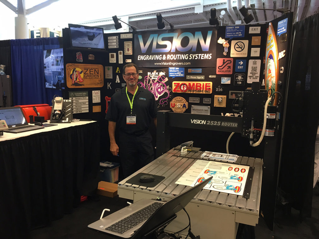 Vision Engraving & Routing System's Booth at the 2018 NBM Show Cleveland, Ohio