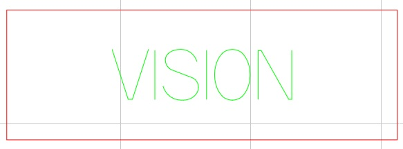 Text Vision to be engraved colored yellow