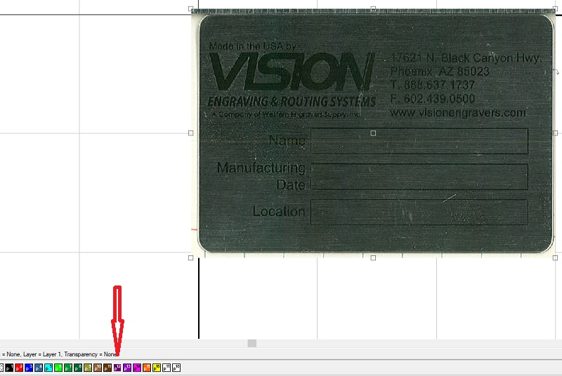 Scanned metal tag imaged being disabled so it does not move.