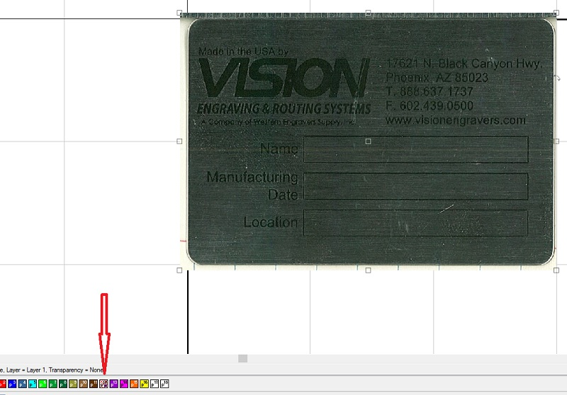 Enabling a scanned metal tag image so you can move it again.