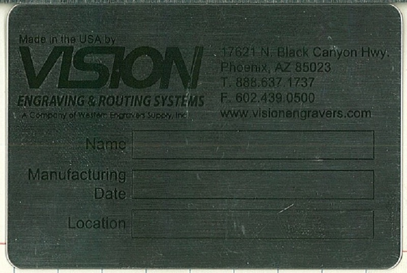 Cropped image of scanned prescreened tag