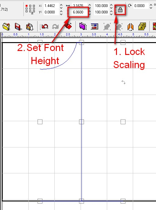 Locking scale height of font.