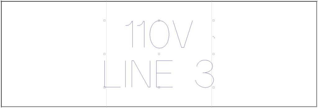 """1""""x3"""" electrical tag with single line font."""