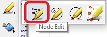 Node Edit option in the Graphic Edit Tool.
