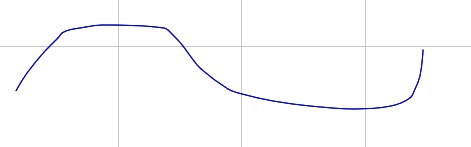 A curved line created with the Free Hand Tool