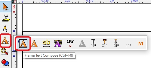 Select frame text compose.