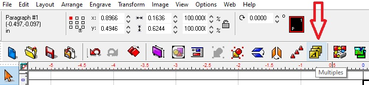 When you are done building your tag template you can select multiples in the menu bar.